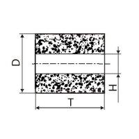 Круг алмазный плоский ПП без корпуса (форма А8) Ф 6 х 6 х 2 (2720-0181) АС4 80/63