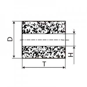 Круг алмазний плоский ПП без корпусу (форма А8) Ф 6 х 6 х 2 (2720-0181) АС4 80/63