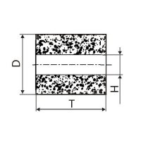 Круг алмазный плоский ПП без корпуса (форма А8) Ф 6 х 6 х 2 (2720-0181) АС4 63/50