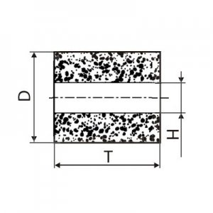 Круг алмазный плоский ПП без корпуса (форма А8) Ф 13 х 10 х 4 (2720-0187) АС4 100/80
