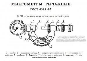 Мікрометр важільний МРИ-125 0,002 (Кіров)