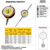 Индикатор часового типа ИЧ-50 - 0,01 кл.1 (Микротех®)