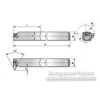 Резец резьбовой внутренний 12х12х140 Т5К10 (ЧИЗ) 2662-0003