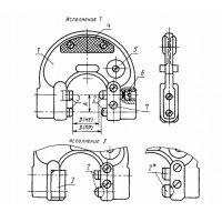 Калібр-скоба регульована гладка 8118-0018 вик. 1 (130-140 мм)