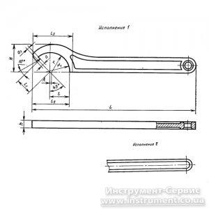 Ключ круглый для шлицевых гаек 125-130 (Камышин, СССР)