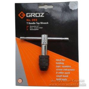 Вороток с Т-образной ручкой, длиной 70 мм, под метчик М2-М6 (GROZ, TW/1-4/SPL)