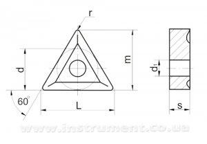 Твердосплавна пластина 01114-220408-2 Т15К6