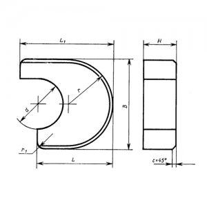 Пластина твердосплавная 1909-0014 ВК15