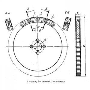 Пила дискова сегментна 800 мм. Р6М5