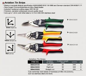 Ножиці по металу (ліві) TOPTUL, SBAC0125
