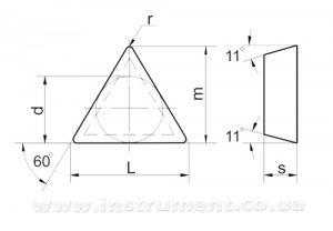 Твердосплавна пластина 01311-090204 МС318