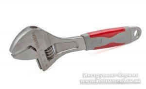 Ключ разводной 300мм, изолированная рукоятка, никелевое покрытие (Intrtool, XT-0030)