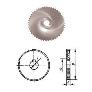 Фреза Ф 80х1,0х22 тип 1 прорезная z=100 Р6М5