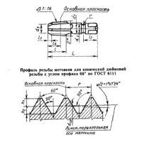 """Метчик конический дюймовый К 1"""" Р6М5 исп.2"""