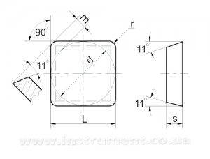 Пластина твердосплавная 03311-120304 Т5К10