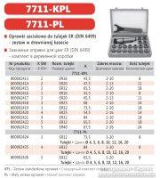 Патрон цанговый 7711-2-ER32-KPL (КМ2-ER-32) c набором цанг 18 шт (от 3 до 20 мм) Bison-Bial
