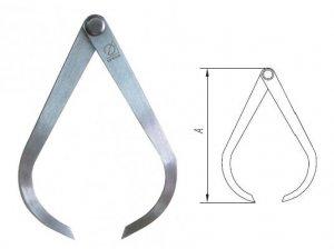 Кронциркуль для зовнішніх вимірювань 175 мм (Еталон)
