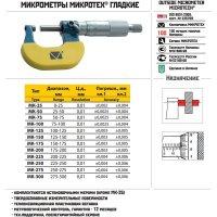 Микрометр гладкий МК- 25 кл.1 (Микротех®)