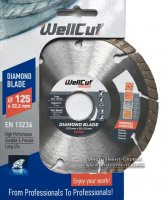 Алмазный круг Wellcut Standart 125мм*7мм*22,23мм Турбо (222-125/22)