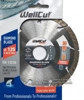 Алмазный круг Wellcut Standart 125 мм * 7 мм * 22,23 мм Турбо (222-125/22)