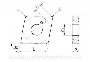 Пластина твердосплавная 05125-120408 Т5К10