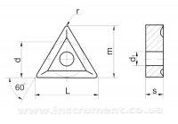 Пластина твердосплавная 01114-220412 Т15К6