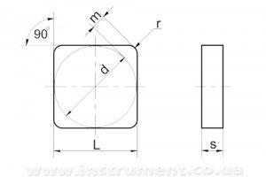 Пластина твердосплавная 03111-120408 ВК6ОМ