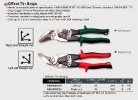Ножницы по металлу изогнутые (левые) TOPTUL, SBAD0124