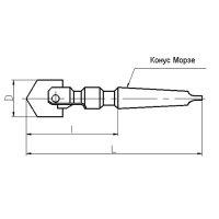 Сверло перовое сборное к/х Ф 82-102 мм (L=340 мм) КМ5