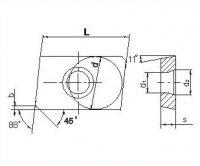 Пластина твердосплавная ZPCW 2004 APTR (20*12,7*4,5) ТТК