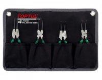 Набор съемников стопорных колец 4 ед. (в чехле) TOPTUL, GPAQ0401