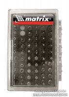 Набор бит 61 шт, с магнитным держателем, CrV (MTX, 113879)