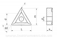 Пластина твердосплавная 01114-220408-2 Т5К10