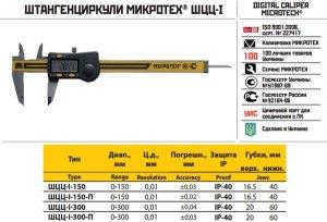 Штангенциркуль электронный ШЦЦ-I-150 - 0,01 IP-40 калибровка ISO 17025 (Микротех®)