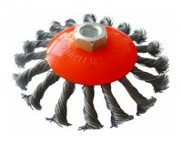 Щітка конусна 125 мм, М14, плетена проволока (Werk) WE107625