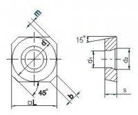 Твердосплавна пластина SDCW-0903