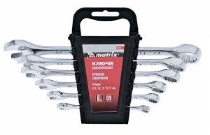 Набор ключей комбинированных 6 шт. 6-17 мм, CrV, полированный хром (MTX, 154149)