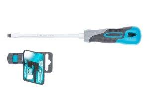 Викрутка SL6,5 х 100мм, S2, трикомпонентна ручка (GROSS, 12117)