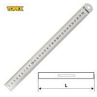 Линейка металлическая 500 мм, нержавеющая сталь (Topex, 31C050)