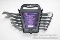 Набор ключей комбинированных 6 шт. (8-17мм) CrV сталь Utool