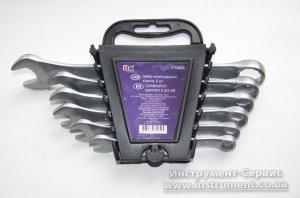 Набір ключів комбінованих 6 шт. (8-17мм) CrV сталь Utool