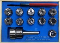 Патрон цанговый КМ2-ER32, хвостовик конус Морзе, DIN228-A, с набором цанг 11 шт (4-20мм) GRIFF, b220313