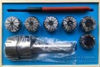 Патрон цанговый КМ3-ER32, хвостовик конус Морзе, DIN228-A, с набором цанг 6 шт (6-20мм) GRIFF, b220223