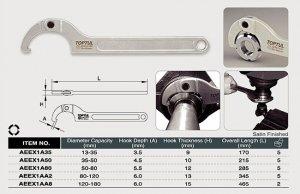 Ключ круглий для шліцьових гайок 120-180 мм. TOPTUL (AEEX1AA8)