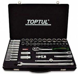 """Набор инструмента комбинированный 1/2"""" (короткие+длинные головки) TOPTUL (GCAD4102)"""