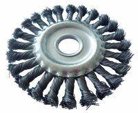 Щітка дискова 125х22 мм, плетений дріт (Werk) WE107425