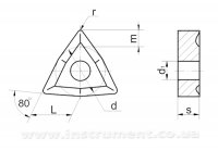 Пластина твердосплавная 02114-080408 Т15К6 (уменьшенная)