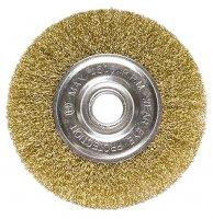 Щетка дисковая 100х22 мм, для УШМ, плоская металлическая (MTX, 746489)