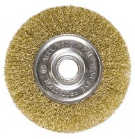 Щітка дискова 100х22 мм, для КШМ, плоска металева (MTX, 746489)