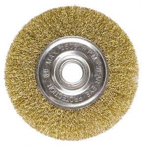 Щетка дисковая 150х22 мм, для УШМ, плоская металлическая (MTX, 746649)